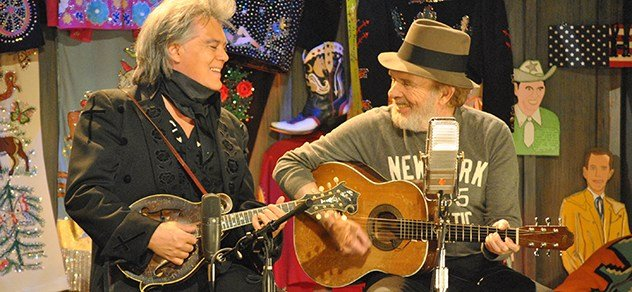 "Marty Stuart and Merle Haggard perform together on an episode of RFD-TV's ""The Marty Stuart Show"""
