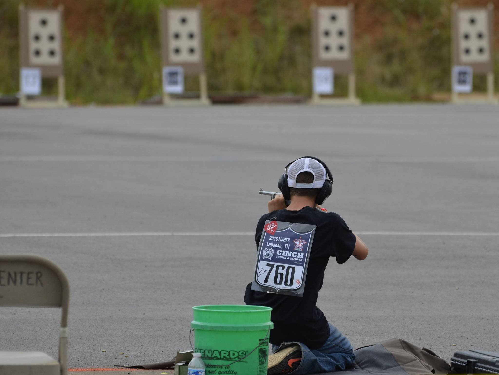 Kord Ostrander from Glenwood, Iowa in the NJHFR light rifle competition. Photo credit Lisa A Zalaznik.