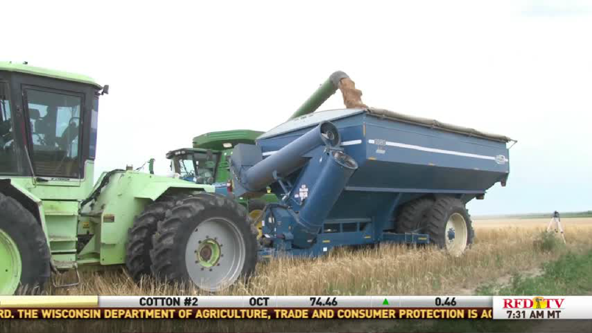 Wheat harvest wraps up.