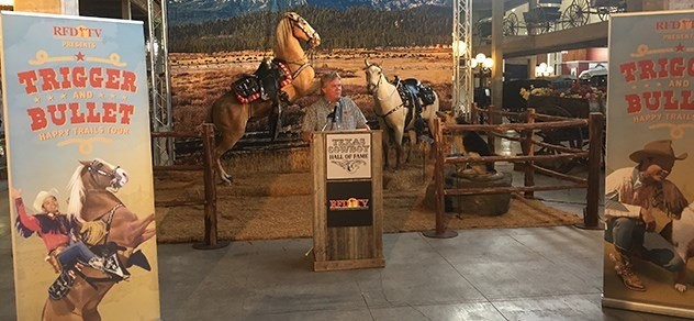 RFD-TV president and founder Patrick Gottsch opens the Happy Trails: A Tribute to Roy Rogers exhibit in Ft. Worth, Texas.