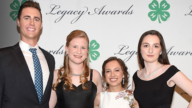 4-H Youth In Action Winners:  (left to right) Samuel Sugarman, Amelia Day, Bryanne Sanchez, Ava Lonneman