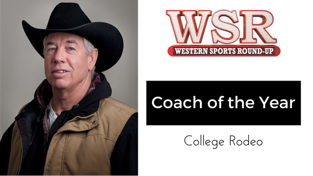 """Del Nose wins college rodeo """"coach of the year""""."""