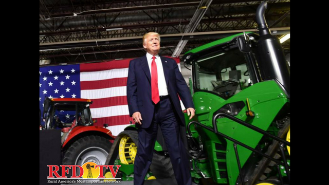As President Trump made the trip to Iowa on Wednesday, he pledged his support for agriculture.