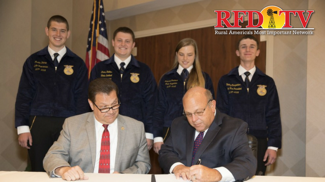 The National FFA Organization and the American Farm Bureau Federation signed a partnership to strengthen the future of agriculture.
