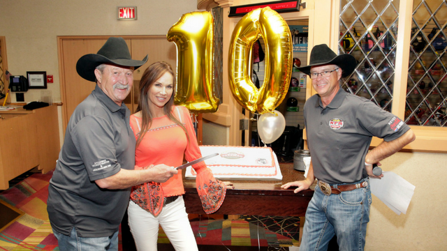 Debbe helped raise money at the Bob Tallman Charity Bowling Event in Vegas.