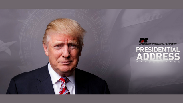Trump to Address the American Farm Bureau Convention