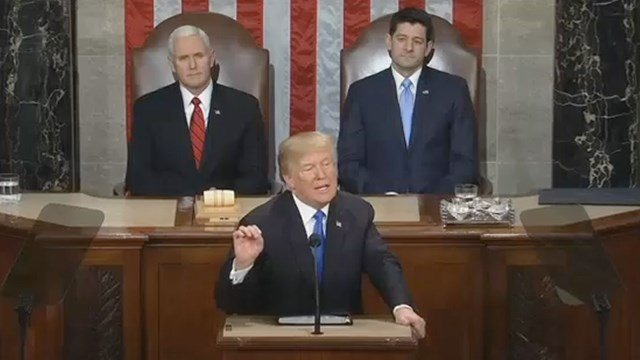 US President Donald Trump delivers his State of the Union Address to Congress.