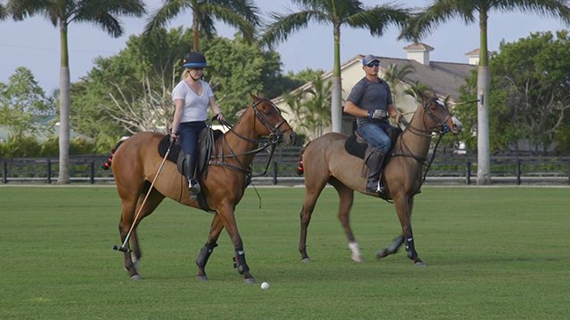 Madison learns to play polo, where the number one rule is: don't fall off!