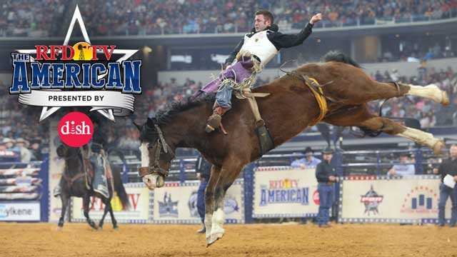 Bareback rider Kaycee Feild rides to victory at THE AMERICAN 2018.