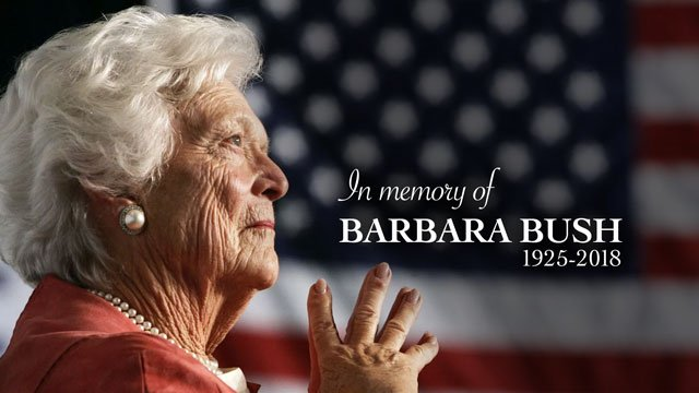 In Memory of Barbara Bush, 1925–2018