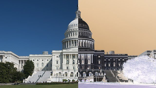 The U.S. Capitol - split image