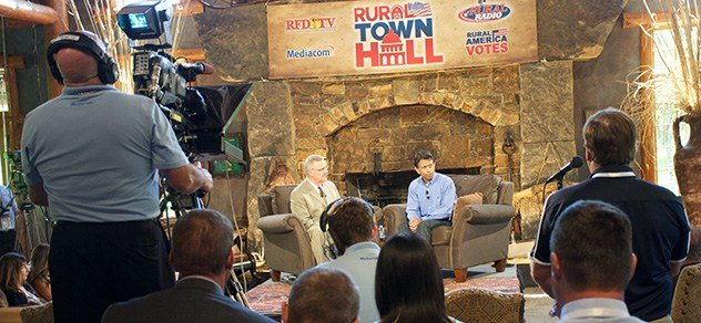 RFD cameras broadcast Rural Town Hall with Gov. Bobby Jindal.