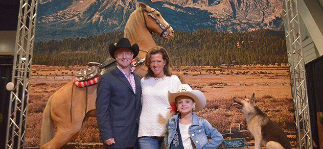 Get your photo made at WNFR with Trigger and Bullet!