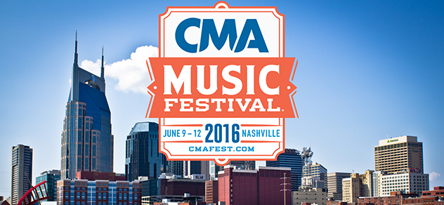 Nashville skyline and CMA Music Festival