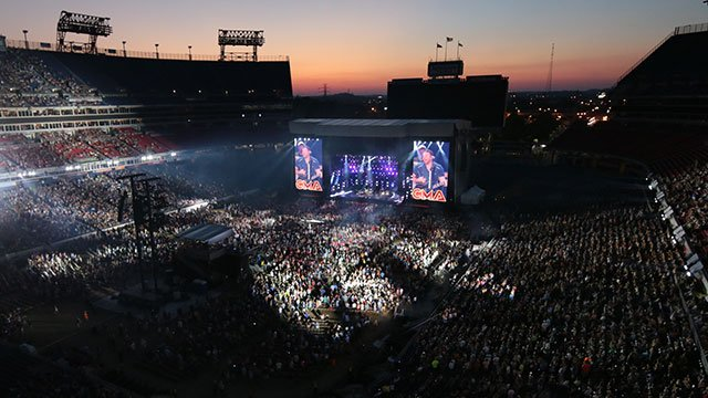 Fans pack Nissan Stadium in Nashville for CMA Music Festival.