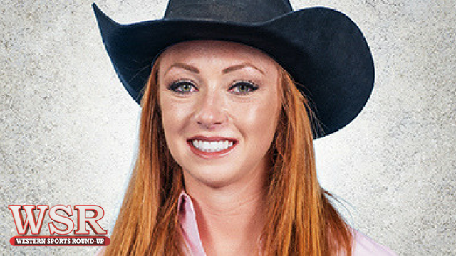 Amy Wilson chats with professional barrel racer, Emily Miller.