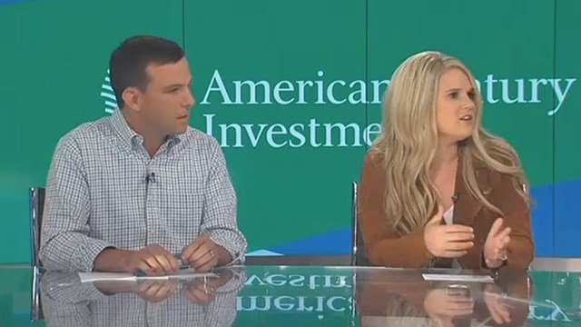 Jay Hummel and Taylor Ahern, with American Century Investments