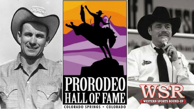 Bob Ragsdale and Randy Corley were inducted into the Pro Rodeo Hall of Fame.