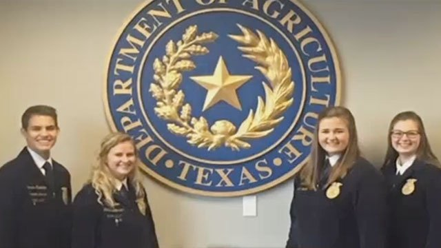 Members of the Katy, TX FFA Chapter