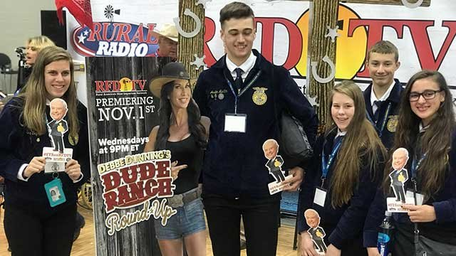 FFA members having a good time at the RFD-TV booth