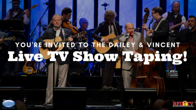 Dailey & Vincent are hosting live tapings of their next season at the Franklin Theater Nov. 6 & 7 in TN.