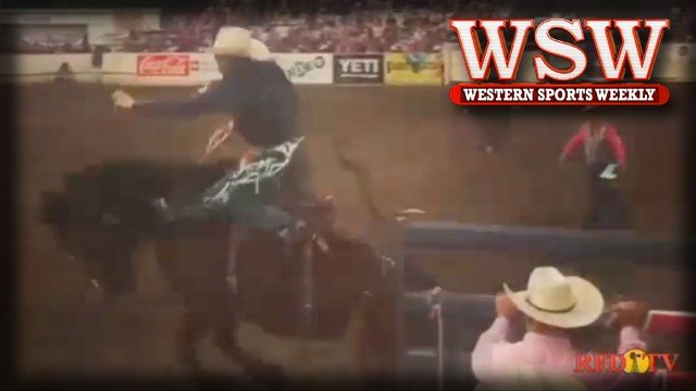 Jacobs Crawley rides to victory in the saddle bronc event at the 2018 Redding Rodeo.