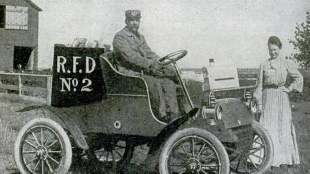 "A Rural Free Delivery vehicle (from ""Popular Mechanics,"" September 1905)"