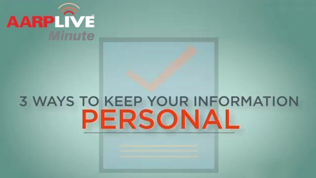 AARP Live Minute: Protecting Your Personal Info