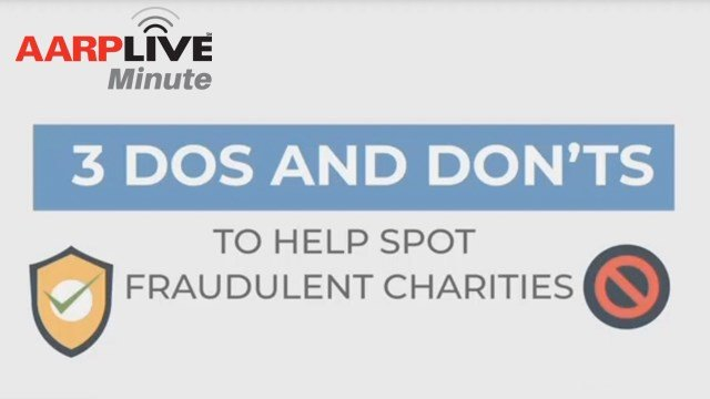 AARP Live Minute: Spotting Fraudulent Charities