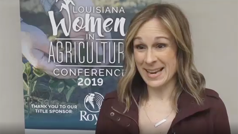 Marji Guyler-Alaniz speaks at the 2019 Louisiana Women in Agriculture Conference