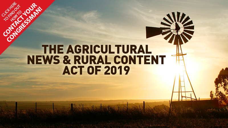 The Ag News & Rural Content Act of 2019 - MDR, Mem Day, 2019