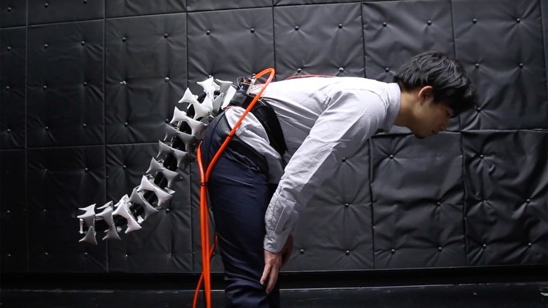 Arque, the robotic tail developed by Japanese researchers