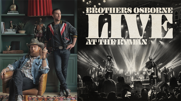 Brothers Osborne announce that their new album, Live At The Ryman, will be released digitally on October 11.