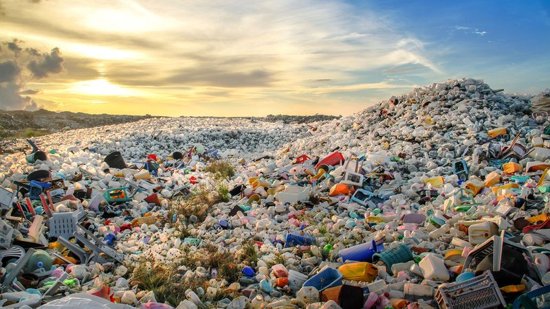 A mountain of plastic waste.