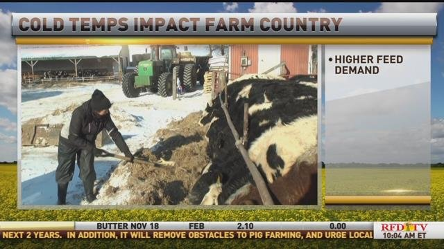 Cold temps impact farm country
