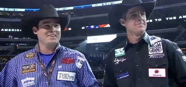 Team ropers Kaleb Driggers and Patrick Smith