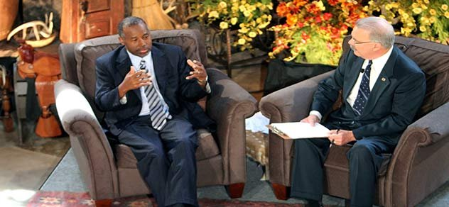 Dr. Ben Carson shares his views during RURAL TOWN HALL.