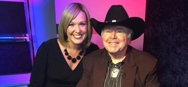 Abby Turpin and Roy Clark