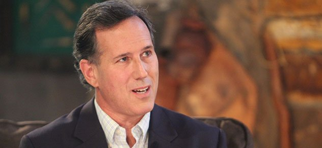 Presidential candidate Rick Santorum answers questions on RFD-TV's RURAL TOWN HALL.