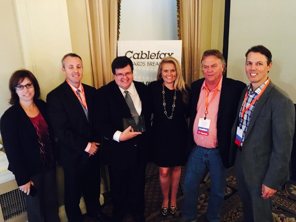 Representatives of RFD-TV accept the Cablefax Award