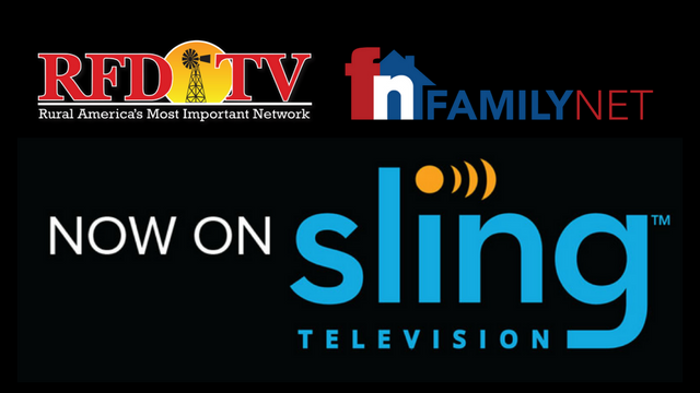 "RFD-TV and FamilyNet added to Sling TV's ""Heartland Extra"""