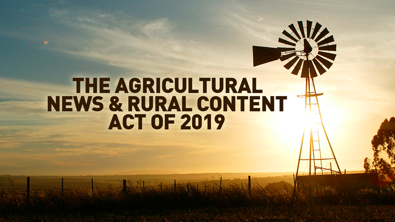 RURAL AMERICA LIVE: Ag News & Rural TV Content Act of 2019