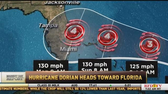 Major Ag Disruptions Expected From Hurricane Dorian